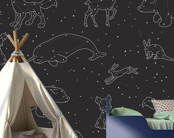 Wallpaper - Animals in the Stars