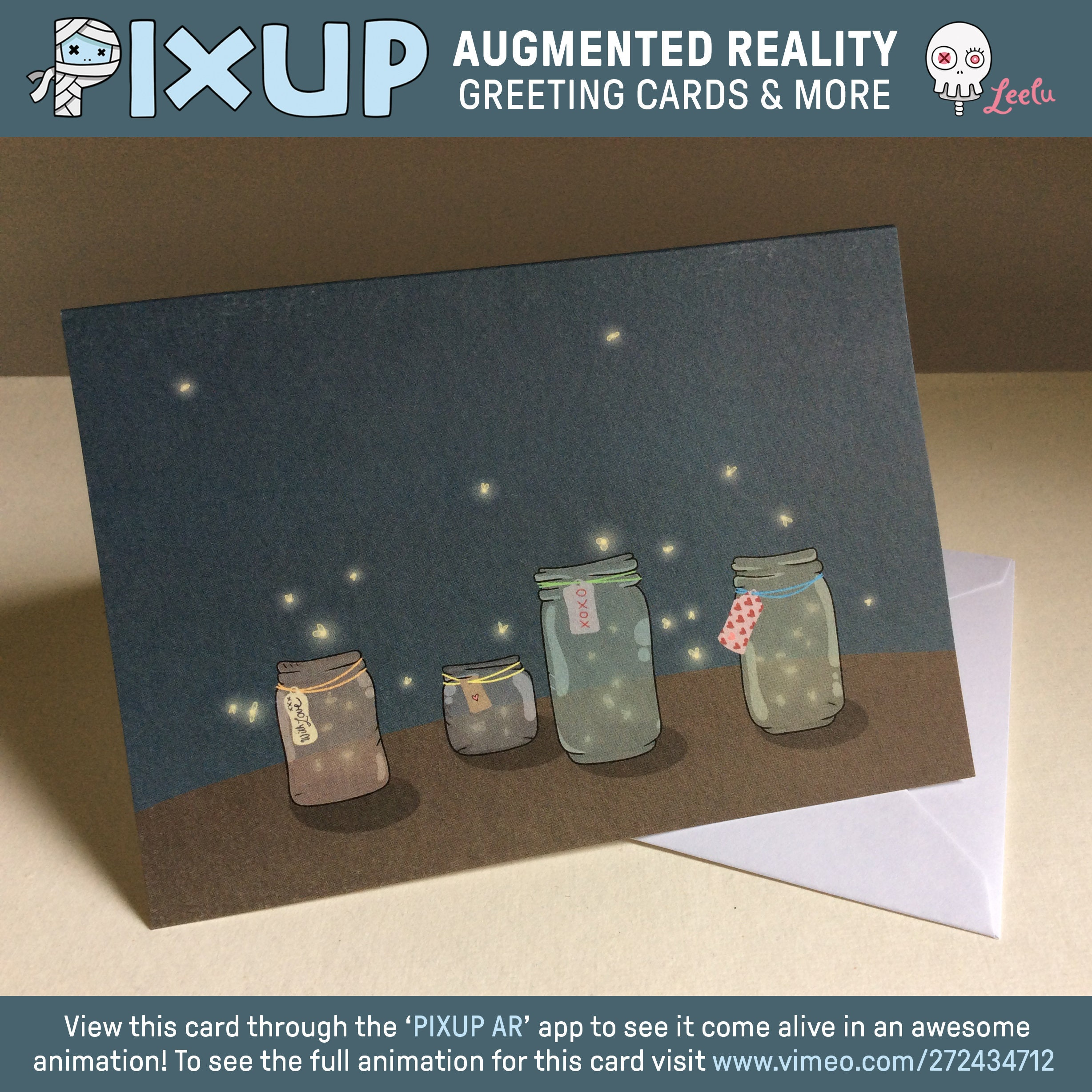 Augmented reality greeting card love fireflies etsy zoom m4hsunfo