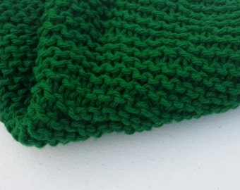 Mistletoe green large dishcloth