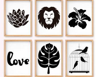 Catlovers Nordic Style Printables Wall Art 6 Set Of Etsy