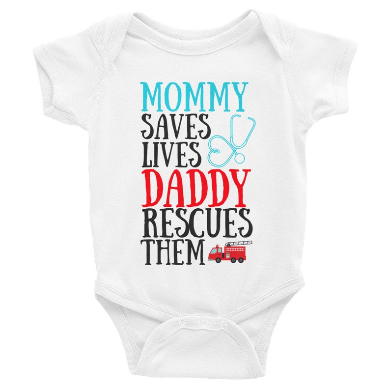 53e0c8f8b My Mommy Saves Lives My Daddy Rescues Them Nurse and | Etsy