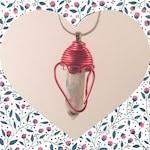 Valentine's Day Heart Quartz Necklace (Unakite)