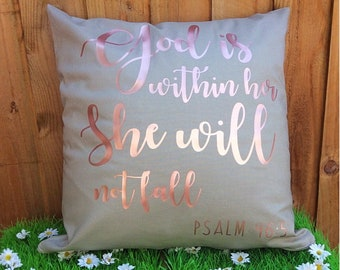 Psalms 46:5 Cushion Cover