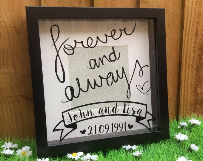 Featured listing image: Personalised Anniversary Wedding Box Frame