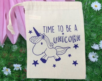 Unicorn Quote Drawstring Bag
