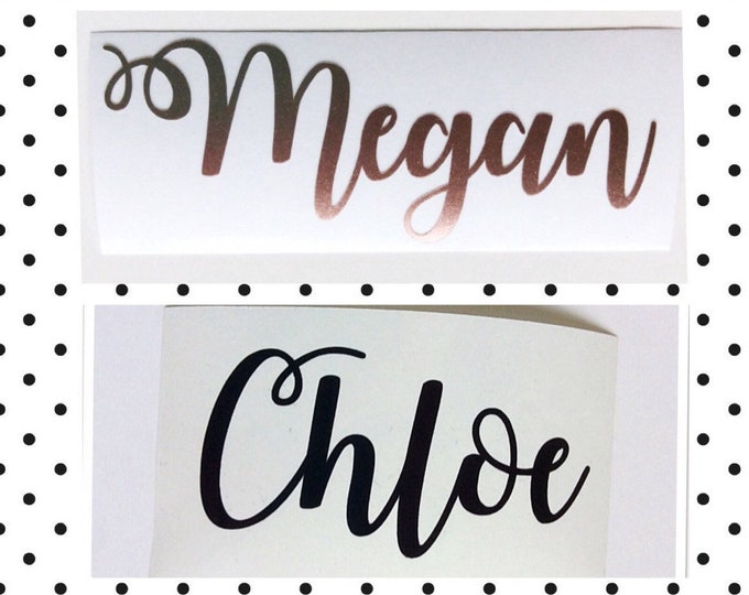 Featured listing image: Personalised Name Vinyl Decal Sticker