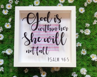 Bible Verse Scripture Frame, Psalm 46 5, God Is Within Her