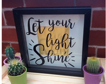 Let Your Light Shine Box Frame