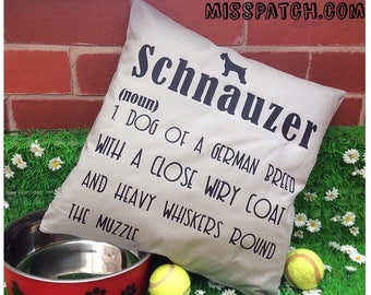 Schnauzer  Dictionary Medium Dog Pillow