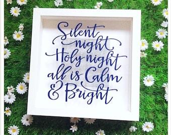 Silent Night Christmas Shadow Box Frame