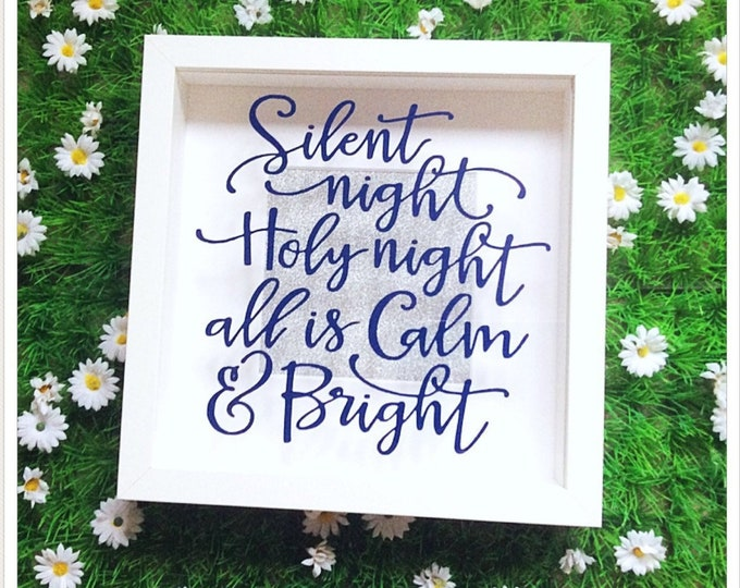 Featured listing image: Silent Night Christmas Shadow Box Frame