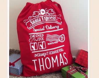 Large Red Personalised Santa Sack