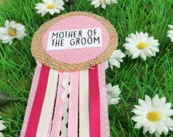 Mother of the Groom Hen Party Corsage Badge