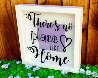 There's No Place Like Home Quote Shadow Box Frame