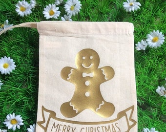 Gingerbread Man Mini Sack