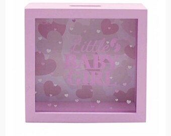 Little Baby Girl Pink Money Box