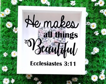 Bible Verse Scripture Frame, Ecclesiastes 3 11, He Makes All Things Beautiful
