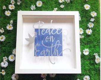 Peace On Earth Shadow Box Frame