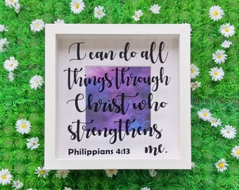 Bible Verse Scripture Frame, Philippians 4 13, I Can Do All Things