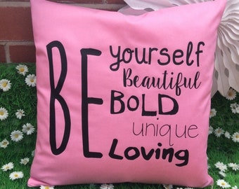 Be Yourself Quote Cushion Cover