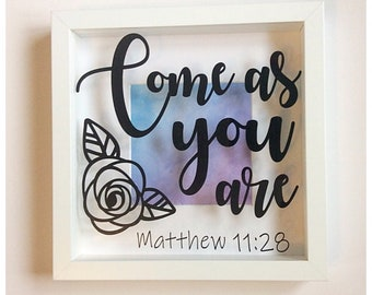 Matthew 11:28 Box Frame