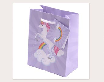 Lilac Dancing Unicorn Gift Bag (small)