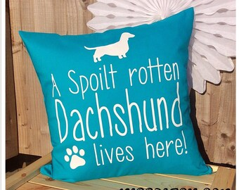 Dachshund Sausage Dog Medium Pillow Cover