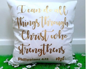 Bible Verse Scripture Cushion Cover Philippians 4.3