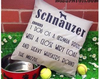 Schnauzer  Dictionary Medium Dog Pillow