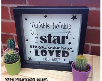 Nursery Rhyme Shadow Box Frame