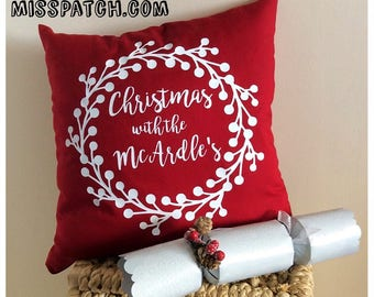 Personalised Family Christmas Cushion Cover