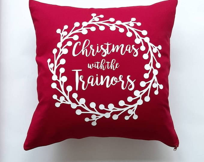 Featured listing image: Personalised Family Christmas Cushion Cover