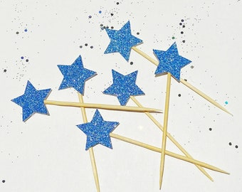 Star Glitter Cupcake Toppers