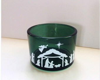 Christmas Nativity Scene T-Light Candle Holder