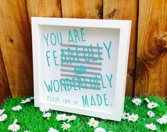 Psalm 139:14 Box Frame