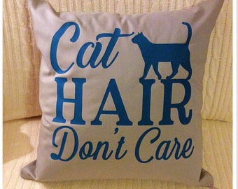 Funny Cat Quote Cushion Cover, Pet Pillow