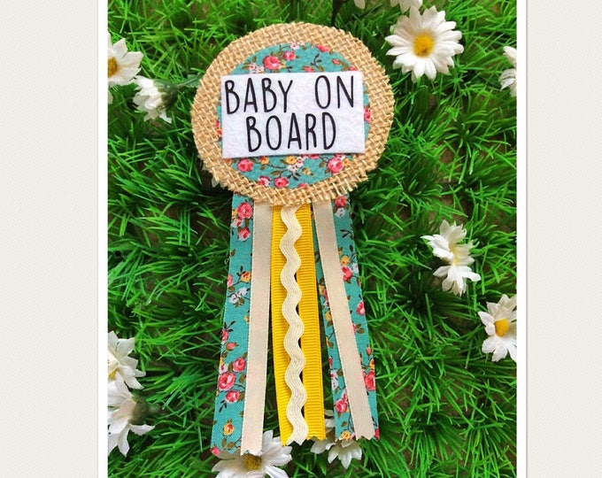 Featured listing image: Baby On Board Transport Badge,