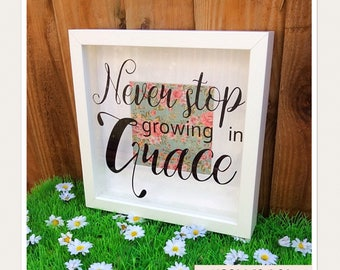 Growing In Grace Box Frame
