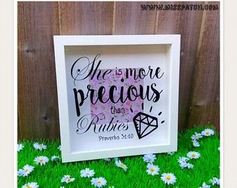 Proverbs 31.10 Box Frame