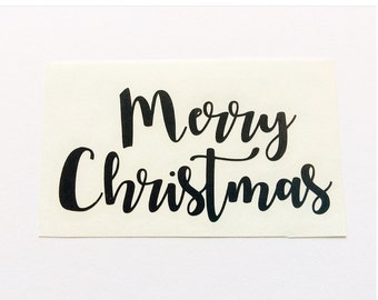Christmas Decal Sticker, Holiday Decal