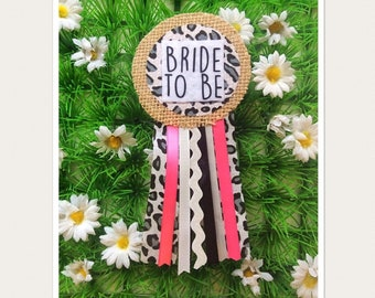 Personalised Hen Party Rosette Badge