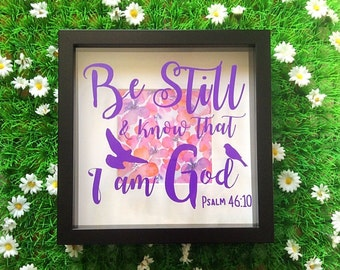 Psalm 46:10 Scripture Box Frame