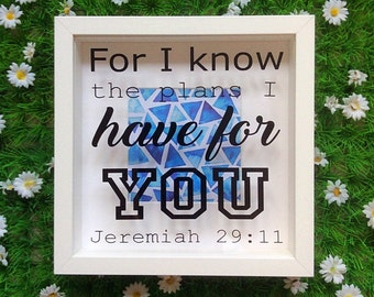 For I know the Plans Bible Verse Frame