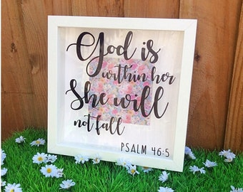 Psalm 46:5 Box Frame