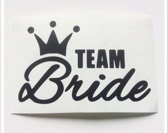 Hen Party Decal Stickers, Team Bride Vinyls