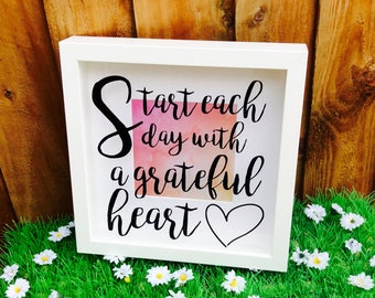 Start Each Day Quote Box Frame