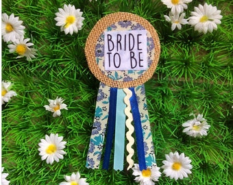 Bride to be Badge, Classy Ribbon Rosette
