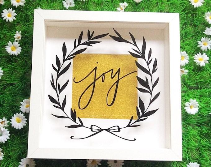 Featured listing image: Christmas Joy Frame Decoration