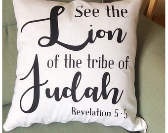 Revelation 5:5 Cushion Cover