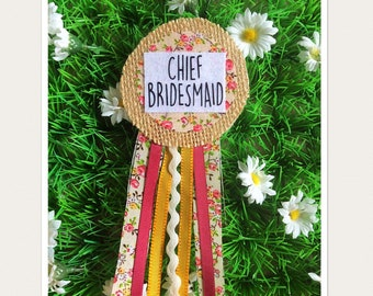 Chief Bridesmaid Hen Party Badge